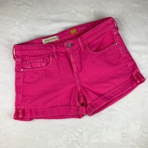 Anthropologie Shorts - Pilcro and the Letterpress Pink Stet Shorts Sz 29